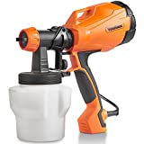 VonHaus Electric HVLP Spray Gun High Power Paint Sprayer with 3 Adjustable Spray Pattern, Flow Control and Easy Cleaning - Ideal for DIY Beginner Painting at Home and Outside