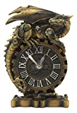 "Ebros Chronos Resting Steampunk Cyborg Dragon Table Clock Statue 8.25"" Tall Mythical Fantasy Painted Mechanical Clockwork Gears of Destiny Dragon Collectible Desktop Clock"