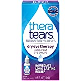 TheraTears Eye Drops for Dry Eyes, Dry Eye Therapy Lubricant Eyedrops, Provides Long Lasting Relief, 15 mL, 0.5 Fl oz