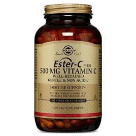 Solgar – Ester-C Plus Vitamin C (Ester-C Ascorbate Complex) 500 mg Vegetable Capsules