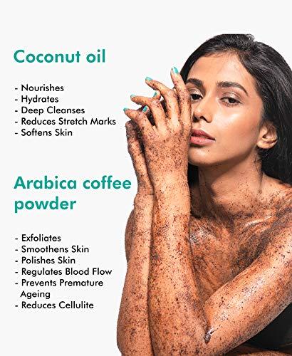 51IG7R yanL mCaffeine Naked & Raw Coffee Body Scrub, 100 g | Coconut | Tan Removal | Oily/Normal Skin | Paraben & SLS Free