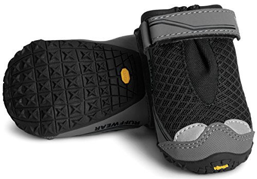 RUFFWEAR  Grip TREX Dog Boots  All Terrain Rugged PAW WEAR Set of Two  All Sizes & Colors (3.25 Inch, Obsidian Black)