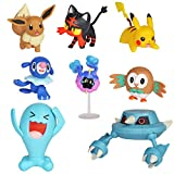 Pokemon Action Figure Mega Battle Pack - Comes with 2' Rowlet, 2' Popplio, 2' Litten, 2' Eevee, 2' Pikachu,  2' Cosmog, 3' Metang, and 3' Wobbuffet