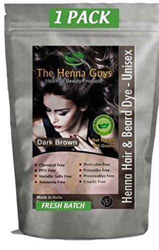 1 Pack of Dark Brown Henna Hair Color/Dye - 150...
