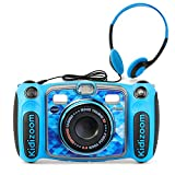 VTech Kidizoom Duo 5.0 Deluxe Digital Selfie Camera with MP3 Player & Headphones, Blue