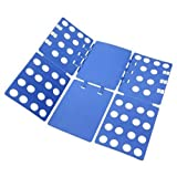 MagicFold Tshirt Folding Board Easy and Fast fold Clothes, Durable Plastic Laundry folders Folding Boards, Blue