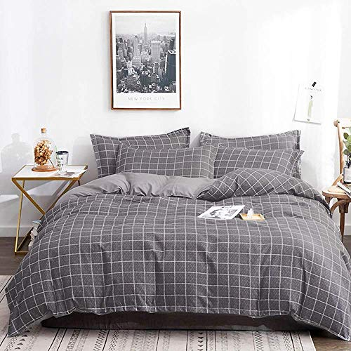 Tiffico Duvet Cover Queen Set 90x90 Luxury Microfiber Soft