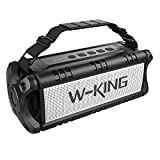 W-KING Wireless Bluetooth Speakers & 8000mAh Battery Power Bank - D8 Outdoor Portable Waterproof Speaker with Powerful Bass for iPhone, Tablet & Laptop - Loud Clear Stereo Sound - 100ft Range – Black