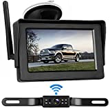 LeeKooLuu Digital Wireless Backup Camera&Monitor Kit for RV/Car/Trailer/Truck/Motorhome High-Speed Observation System Front/Side/Rear View Driving/Reversing Waterproof Night Vision Guide Lines ON/Off