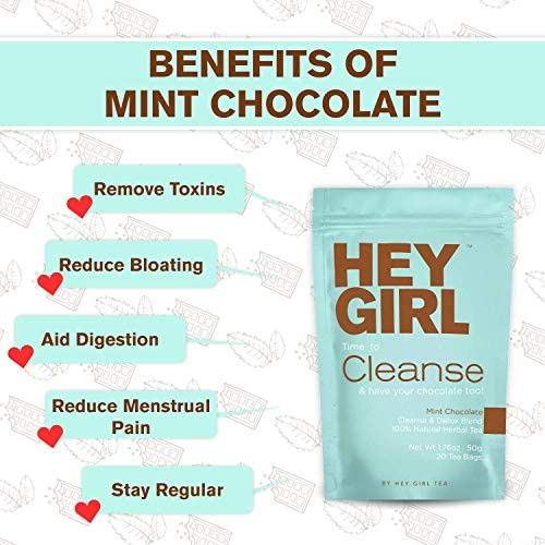 Detox Tea - Mint Chocolate Flavored Cleanse for Women with a Sweet Tooth - Teatox Reduces Bloating & Helps Your Body Stay Regular | Keep Your Colon Happy and You Feeling Healthy with Hey Girl Tea 5