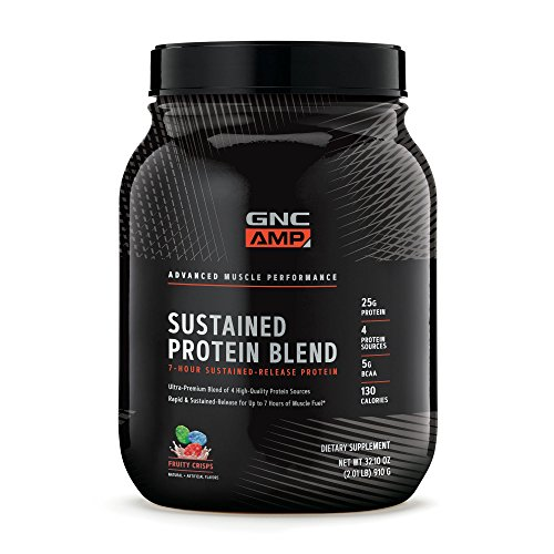 GNC AMP Sustained Protein Blend, Fruity Crisps, 2.04 lbs.