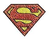 DC Comics Superman Small Car Window Decal Sticker (Bling Logo Crystal Studded Superman)