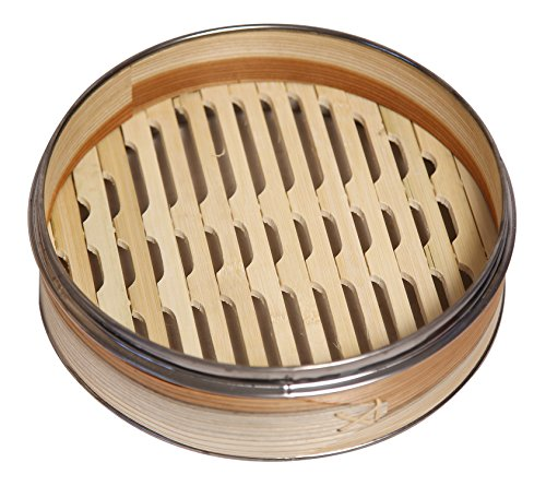 51IUxu1G4wL - Livzing Bamboo Steamer Set With Lid- Brown