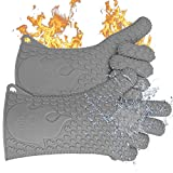 Jolly Green Products Ekogrips #1 Heat-Resistant Cooking Gloves | Leading Brand for Pitmasters | Designed in USA | 3 Sizes (One-Size-Fits-Most, Grey)