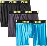 PUMA Men's 3 Pack Boxer Brief, Bright Blue, Medium