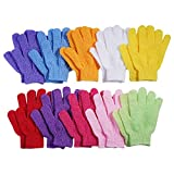10 Pairs Exfoliating Bath Gloves,Made of 100% NYLON,10 Different Colors Double Sided Exfoliating Gloves for Beauty Spa Massage Skin Shower Scrubber Bathing Accessories.