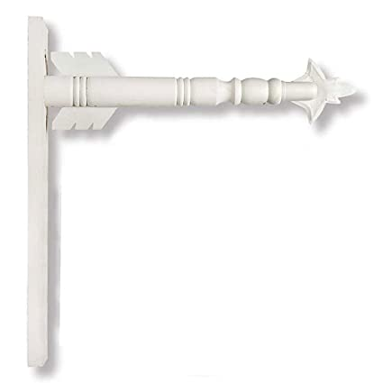 Arrow Hanger For Inter Changeable Decorative Plaques And Signs White