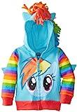 FREEZE Toddler Girls' My Little Pony Rainbow Dash Hoodie, Blue/Multi, 4T