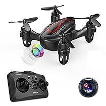 DROCON Drone Mini Pocket GD60 Telecamera di telecomando dell'elicottero HD Anti-vibrazione 720P Fashion Headless FLIPS E RUOLI 3D adatto per principianti