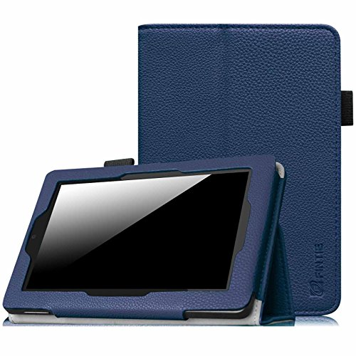 Fintie Folio Case for Fire HD 7 Tablet (2014 Oct Release) - Slim Fit Leather Standing Protective Cover with Auto Sleep/Wake Feature (will only fit Fire HD 7 4th Generation 2014 model), Navy Blue