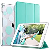 ULAK iPad 2017/2018 iPad 9.7 inch Case, Slim Lightweight Smart Case Trifold Stand with Auto Sleep/Wake Function,Hard Back Clear Polka Dot Cover for Apple iPad 9.7-inch 5th 6th Gen,Mint