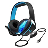 Mpow 7.1 Surround Sound Gaming Headset, PC, PS4 Headset, Dual 60mm Driver Gaming Headphone with Noise Cancelling Microphone, 3.5mm Jack USB Headphone for Computer, Playstation 4, Xbox one