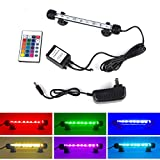 "Smiful LED Aquarium Light, Fish Tank 16 Color 4 Modes RGB Lights Submersible Underwater Crystal Glass Lights with Wireless Remote Control, 7.5"" - multi color"