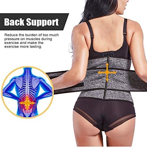 FeelinGirl Women Neoprene Sweat Waist Trainer Corset Trimmer Belt Waist Cincher Body Shaper Slimming 5