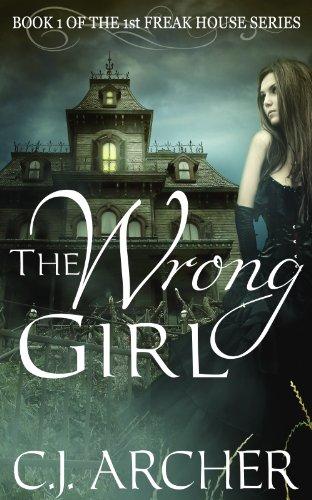 The Wrong Girl book cover creepy house said girl dark dress victorian