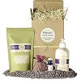 Victoria's Lavender Gift Basket for Women Natural...