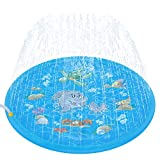 Tobeape Upgraded 68' Sprinkle and Splash Play Mat, Inflatable Outdoor Sprinkler Pad Water Toys for Children Infants Toddlers Boys Girls and Kids