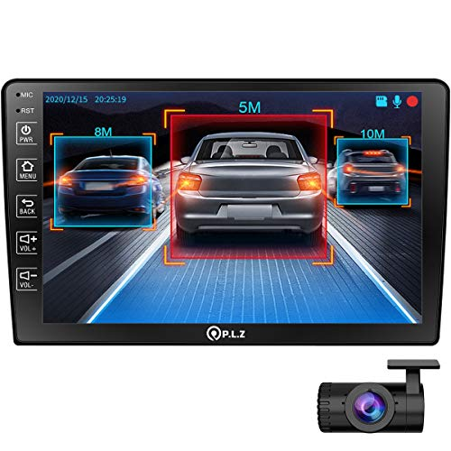PLZ-AN-500-Android-GPS-Navigation-Car-Multimedia-System-with-Dash-Cam-Double-Din-Car-Stereo-101-Inch-IPS-Touchscreen-Monitor-Bluetooth-WiFi-Mirror-Link-Backup-Camera-FM-Car-Radio-Receiver