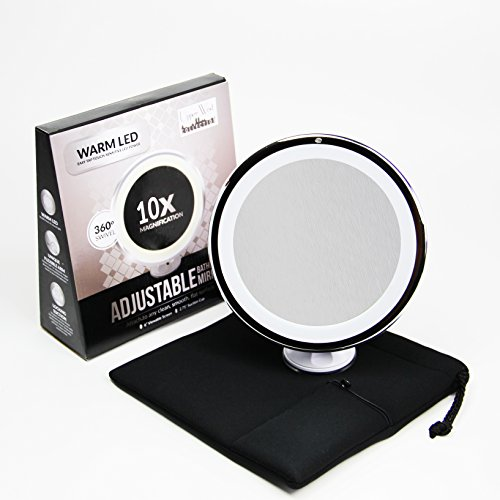 10x Magnifying Lighted Makeup Mirror. Warm LED Tap Light Bathroom Vanity Mirror. Wireless...