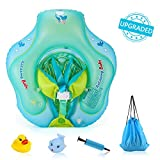 Delicacy Baby Swimming Float, Baby Inflatable Floats Ring Safety Belt Bathtub Swimming Pool Suitable for 6-36 Months,Size L [Upgraded Version]