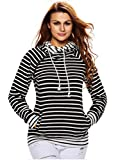 Product review for HowFitU Womens Long Sleeve Funnel Neck Pockets Pullover Hoodies Sweatshirts Coat