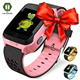 Smart Watch for Kids - Smart Watches for Boys Smartwatch GPS Tracker Watch Wrist Android Mobile Camera Cell Phone Best Gift for Girls Children boy Pink Blue Yellow (Blue) (Yellow)