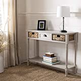 Safavieh American Homes Collection Christa Vintage Grey Console Table with Storage