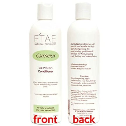 Etae Natural Products E'tae Conditioner Carmelux Silk Protein 12oz for Natural, Relaxed, Color Treated Hair (1 item)