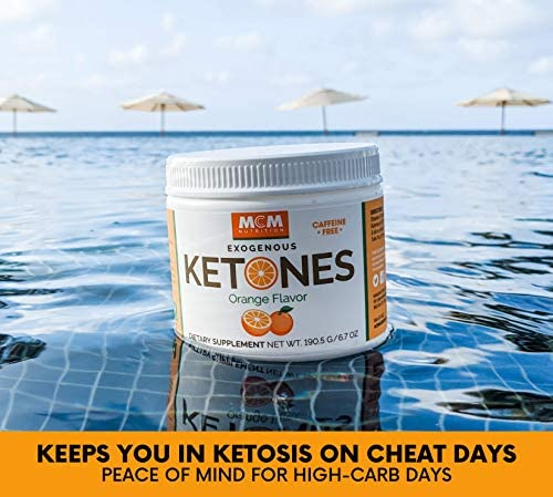 MCM Nutrition - Exogenous Ketones Supplement & BHB - Caffeine Free and Suppresses Appetite - Instant Keto Mix That Puts You into Ketosis Quick & Boosts The Keto Diet (Orange Flavor - 15 Servings) 5