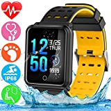 GBD Smart Watch Sport Activity Fitness Tracker with Heart Rate Blood Pressure Sleep Monitor Pedometer Outdoor Waterproof Wrist Watch Wristband Birthday Gifts for Men Famle Women Him