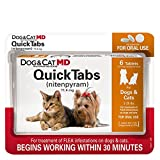 Dog & Cat MD Maximum Defense QuickTabs Nitenpyram Flea Treatment, 2-25 lbs, 6 Tablets by Dog MD