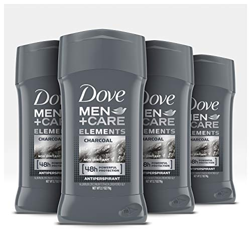 Dove Men+Care Antiperspirant Deodorant Stick Tough on Sweat, Not on Skin Charcoal 48 Hour Sweat and Odor Protection 2.7 oz 4 Count 1