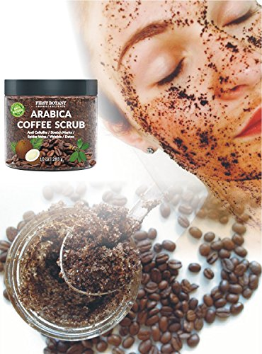 100% Natural Arabica Coffee Scrub with Organic Coffee, Coconut and Shea Butter - Best Acne, Anti Cellulite and Stretch Mark treatment, Spider Vein Therapy for Varicose Veins & Eczema 10 oz 3