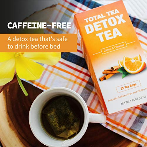 Total Tea Caffeine Free Detox Tea - All Natural - Slimming Herbal Tea for Gentle Cleansing - 25 Tea Bags 6
