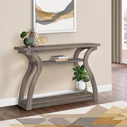 Monarch Specialties , Hall Console, Accent Table, Dark Taupe, 47″L