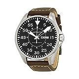 Hamilton Khaki Pilot Black Dial Leather Strap Men's Watch H64715535