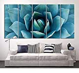 EZON-CH Large Wall Art Blue Agave Canvas Prints Agave Flower Large Art Canvas Printing Extra Large Canvas Wall Art Print 60 Inch Total