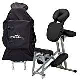 STRONGLITE Portable Massage Chair Ergo Pro II - Ultra-Strong, Lightweight, Folding Tattoo Spa Massage Chair with Wheels & Carry Case (Working Weight 600lbs)