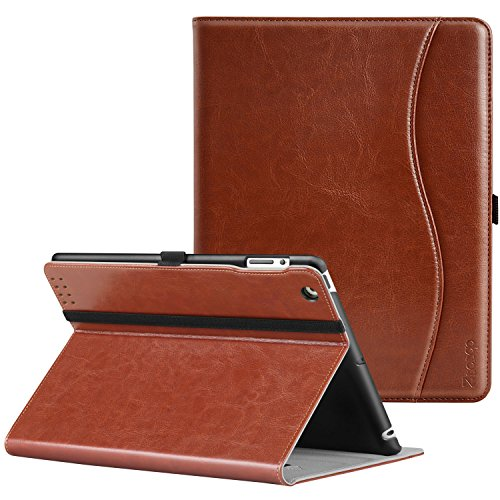 Ztotop iPad 2/3/4 Case - Lightweight Slim Tri-Fold Smart Stand Cover Protector Supports Auto Wake/Sleep for iPad 4th Generation with Retina Display, iPad 3 & iPad 2 - Brown