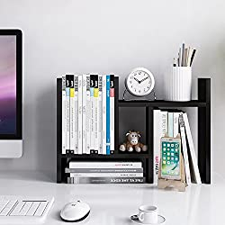 Jerry & Maggie - Desktop Organizer Office Storage Rack Adjustable Wood Display Shelf - free style double H display - True Natural Stand Shelf